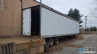 Wabash 48 foot TA storage trailer, 58,000 # GVWR.