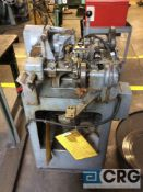 Nilson model 00 fourslide, s/n 74990, with solid base and wire straightener, 1/32 max wire dia., 3/8
