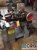 Nilson model 700 fourslide, s/n 95460, with wire straightener, 1/32 max wire dia., 3/8 max width