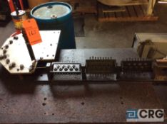 Nilson model 3F fourslide with press head attachment, s/n 104960, with 26 roll 3 plane wire
