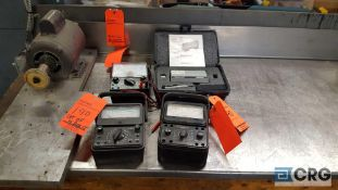 One lot of four assorted testing devices, including one Federal Pocket Surf portable roughness