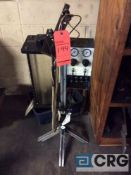 Lot of two assorted EFD Micro Coat Systems, one hooked to lot 166, and one free standing near lot