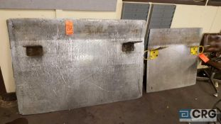Lot of two assorted aluminum dock plates.One 60x 42 inch, and on 36 x 37 inch.
