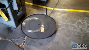 Lot of 3 assorted rotary feed tables.