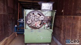 Herckelbout wire bender machine. Located in storage trailer.