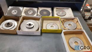 Lot of nine assorted diamond cutting blades.