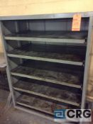 Lot of three HD, 5 tier cabinets with slide out shelves.