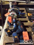 Lot of Ryobi cordless handtools including (2) circular saws, (1) sawzall, and (2) flashlights(