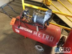 Craftsman portable air compressor, 2 hp engine(LOCATED INDUSTRIAL COURT INSIDE)