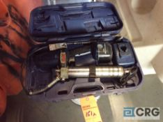 Lincoln 18 volt cordless lube gun with charger and case(LOCATED INDUSTRIAL COURT INSIDE)