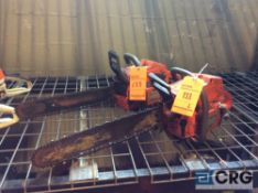 Lot of (2) asst Husqvarna gas powered chain saws(LOCATED INDUSTRIAL COURT INSIDE)