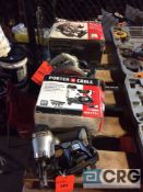 Lot f (2) Porter Cable handtools including 15 degree pneumatic coil roofing nailer and 7 1/4 inch