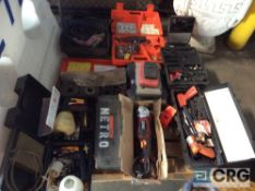 Lot of asst tools including (2) Wagner paint sprayers, (2) electric drills, (3) Ramset and Remington