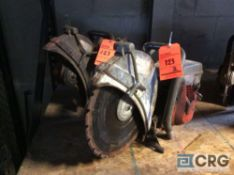 Lot of (2) Husqvarna 14 inch gas powered cut off saws(LOCATED INDUSTRIAL COURT INSIDE)