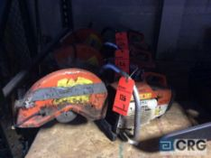 Lot of (3) Stihl 14 inch gas powered cut off saws(LOCATED INDUSTRIAL COURT INSIDE)