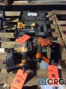 Lot of (3) Ridgid and Stanley pneumatic staplers and nailers(LOCATED INDUSTRIAL COURT INSIDE)