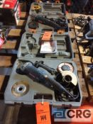 Lot of (2) Ryobi 4 1/2 inch right angle grinders, with cases(LOCATED INDUSTRIAL COURT INSIDE)