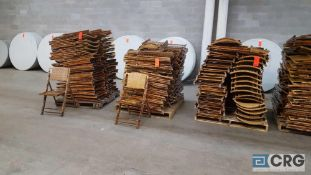 Lot of (125) assorted bamboo folding chairs.