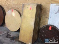 "Lot of (11) assorted 30"" x 72"" folding leg wood banquet tables"