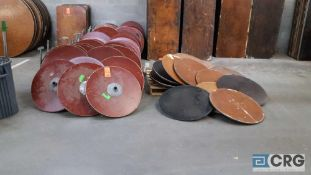 """Lot of (81) assorted 24"""" diameter pedestal tables, with 82 assorted posts, no bases, and 3 pair"""