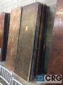 "Lot of (10) assorted 30"" x 96"" folding leg wood tables."
