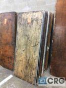"Lot of (11) assorted 30"" x 72"" folding leg wood tables."
