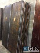 "Lot of (10) assorted 30"" x96"" folding leg wood tables."