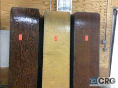 "Lot of (10) assorted 30"" x96"" folding leg wood banquet tables"