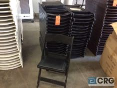 Lot of (40) assorted black resin folding chairs.