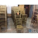 Lot 135 - Lot of (59) gold chivari chairs.