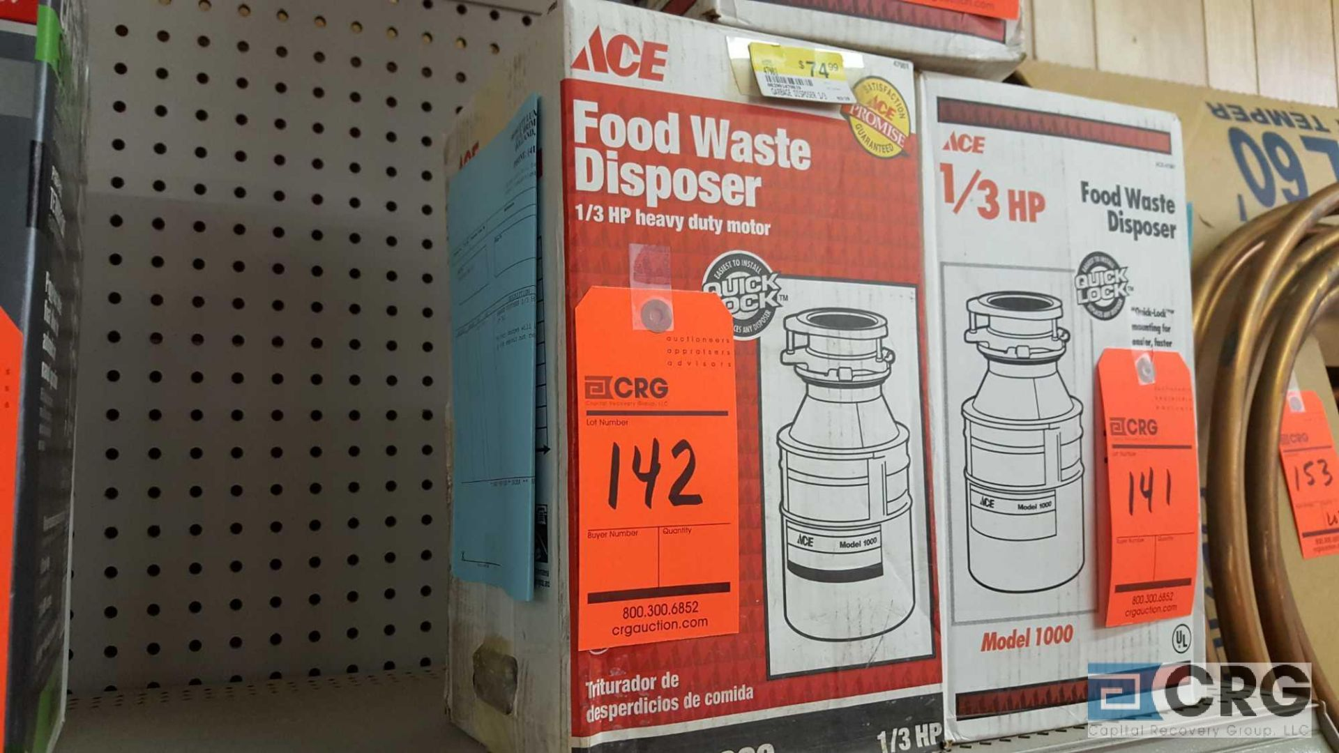 Lot 142 - Ace 1000 food waste disposer, NEW