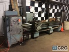 Toolmex Polamco TUR63A engine lathe, 25 in swing x 120 in BC with compound slide table, toolpost,