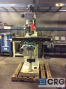Marena vertical milling machine, 68 to 5450 spindle speeds, 9 in x 42 in table, power feed