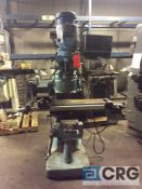 Bridgeport vertical milling machine Series 1, 2 hp, 3 phase, 9 in x 42 in table, power feed, DRO and