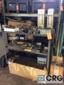 Lot of asst tooling, collets, gages, magnetic blocks, milling machine parts, etc (CONTENTS OF CART