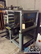 P. A. Industries SRF-320M press, plastic enclosure, with PA Industries roll feeder, pedestal
