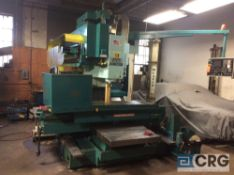 Matsuura MC-1500V CNC milling machine, Fanuc 11M controls, 31 in x 67 in table, 40 position ATC, s/n