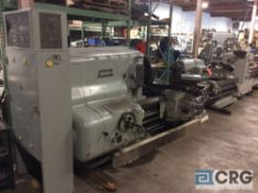 "American Pacemaker engine lathe, 32"" x 108"" BC, with tail stock, compound slide table, and center"