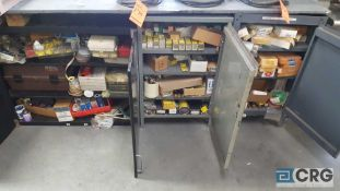 Lot of assorted fuses and electrical accessories etc, with (3) cabinets