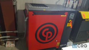Chicago pneumatic, model QRS 25 air compressor, rotary screw type, 25 horsepower, with air reserve