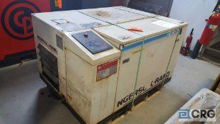 Ingersoll Rand rotary screw air compressor, model number SSR-EP 15 U, serial number J 4096U92 F