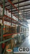 Lot of (11) sections of heavy duty teardrop pallet rack, includes (11) assorted sections, 8 ft. x 42