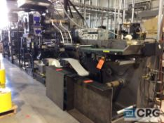 """KO-Pack 350 All In One label press, 13"""" web width, dual turret unwind, 12 color (6/6) twin tower,"""