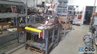 Custom label applicator machine.