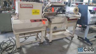 Damark model SMC 1620, s/n 4978, L- bar sealer with shrink tunnel.