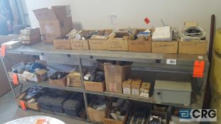 Lot of assorted parts etc, contents of shelving, shelving excluded.