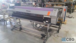 "Mimaki JV33-160 ultra-high resolution vinyl plotter, 1600 mm (63"") print width, with drying fans."