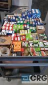 Lot of assorted bearings, contents of the cart, cart is excluded