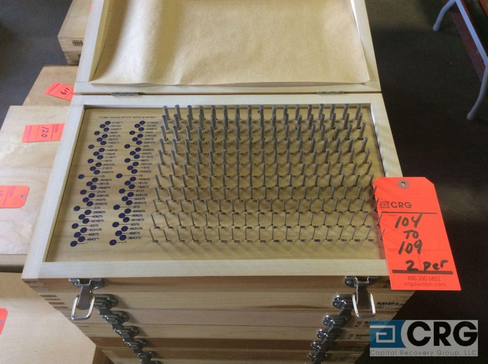 Lot 106 - Lot of (2) Pin Gage Plus .061 - .250 sets