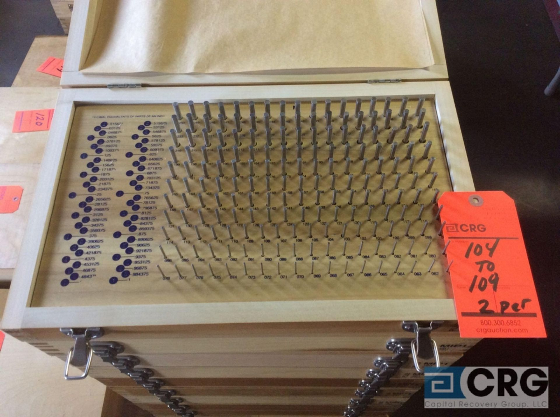 Lot 107 - Lot of (2) Pin Gage Plus .061 - .250 sets